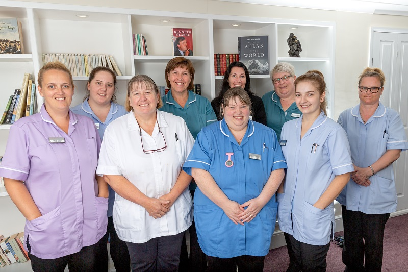 Care Home Jobs - A photo of the happy team at South Moor Lodge